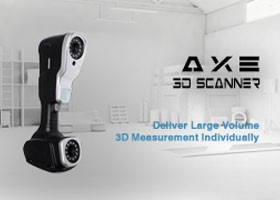 Highest volumetric accuracy Handheld 3D Scanner Deliver large volume 3D measurement individually