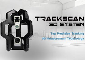 TrackScan Sticker-Free 3D System, Top precision tracking 3D measurement technology