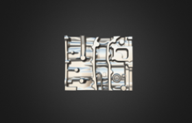 Graphite Mold Casting-3D Scanning by PRINCE775 3D Scanner