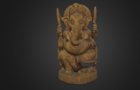 Scanning An Elephant Model by iReal 3D Scanner
