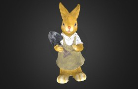 Rabbit model by iReal 3D scanner