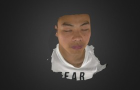 3D Face Scan by White light 3D Scanner iReal