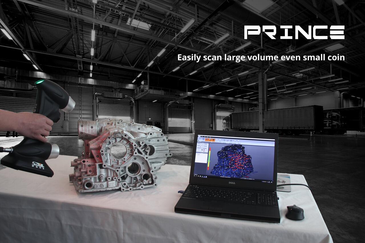 PRINCE dual laser 3D scanner, redefine industrial 3D measurement 1