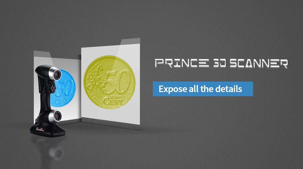 PRINCE dual laser 3D scanner, redefine industrial 3D measurement 2
