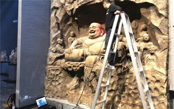 3D scanning of stone carving