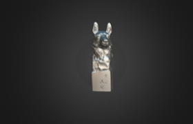 Statues of Dog Head – 3D Scanning by PRINCE775