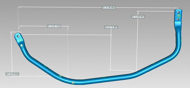 Tube bending 3D data