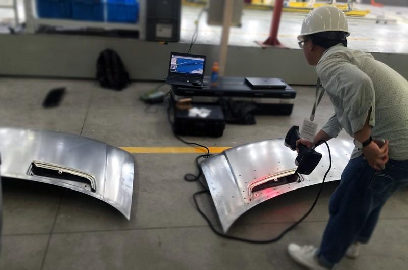 car hood 3D scanning