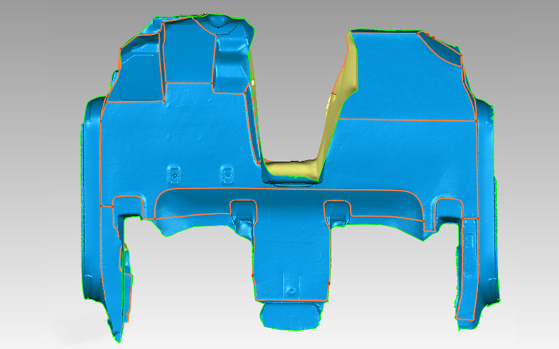 3d data of auto foot mat