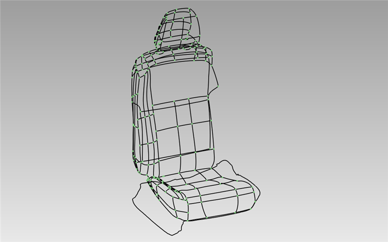 3d drawing of auto seat