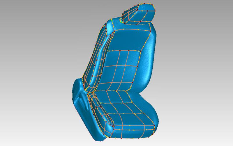 3d model of auto seat