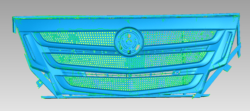 How 3D Scanning Optimizes the Design Process of Truck Grille 4