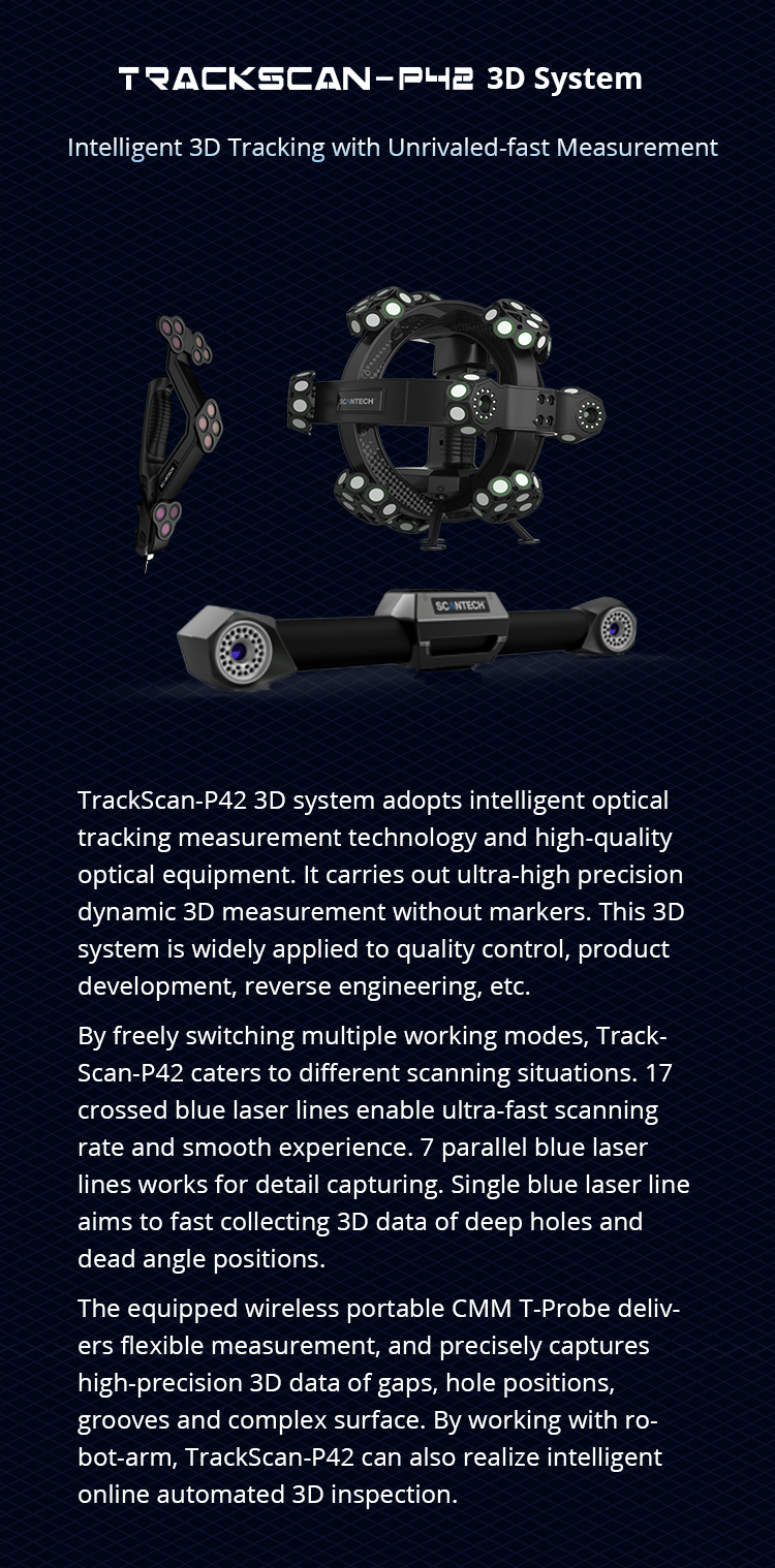 ScanTech Releases the New 3D Tracking System TrackScan-P42 1