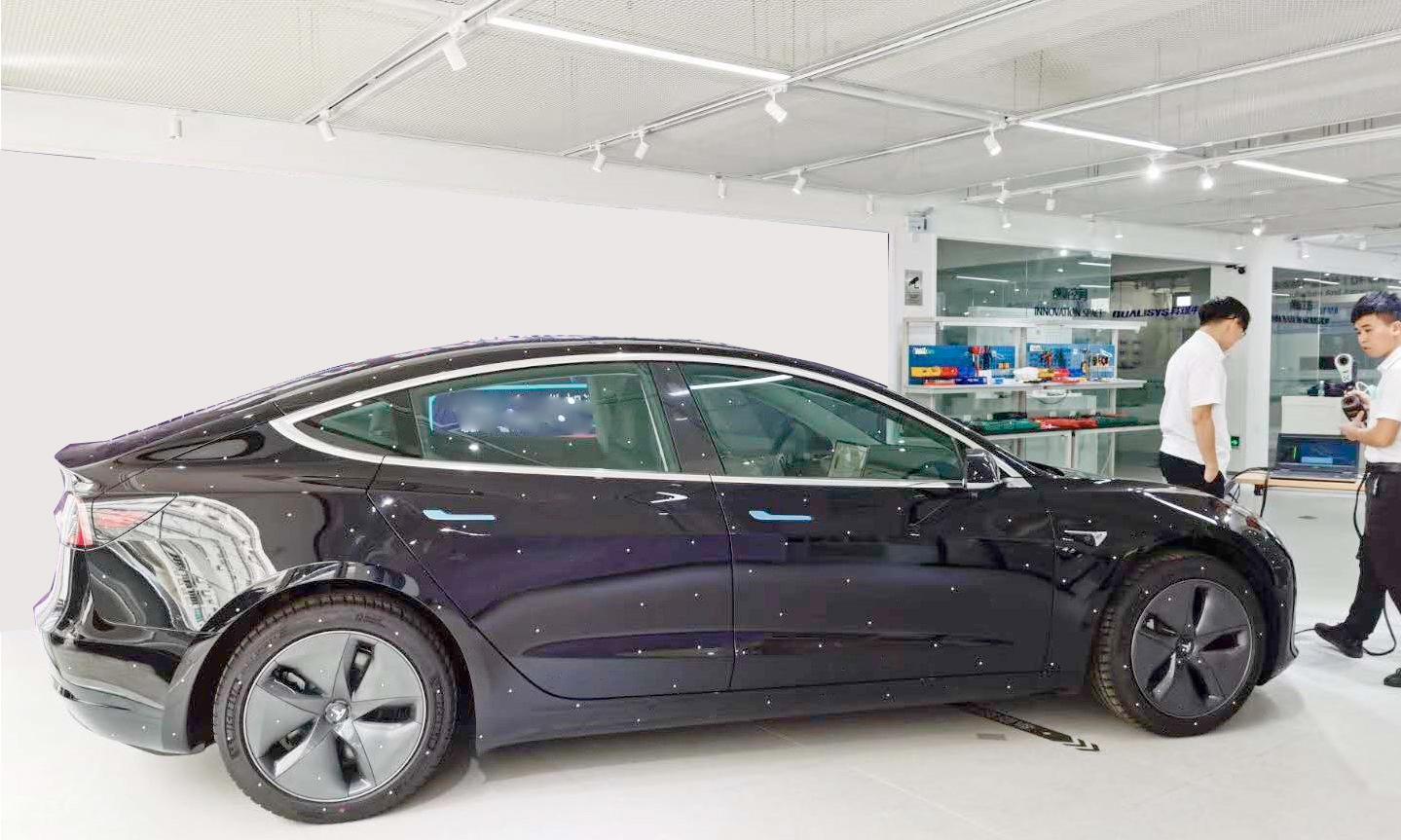 Tesla 3D scanning - KSCAN Magic