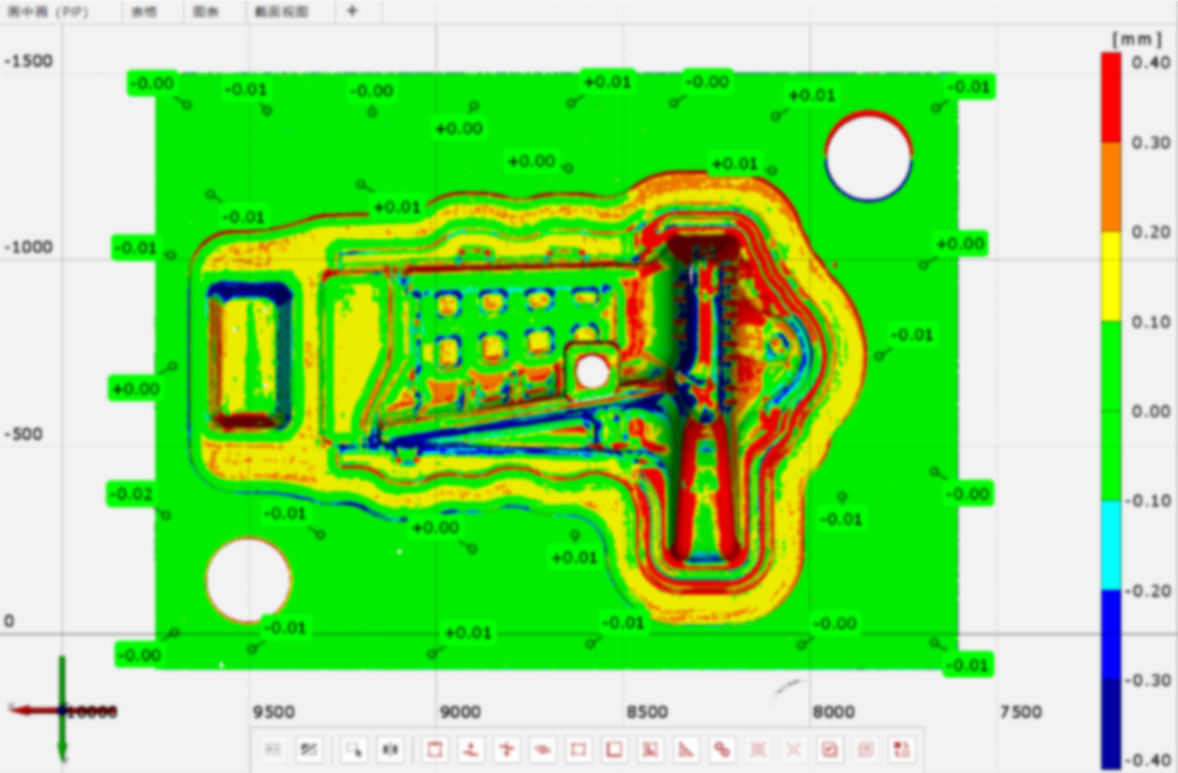 scanning Mold inspection results