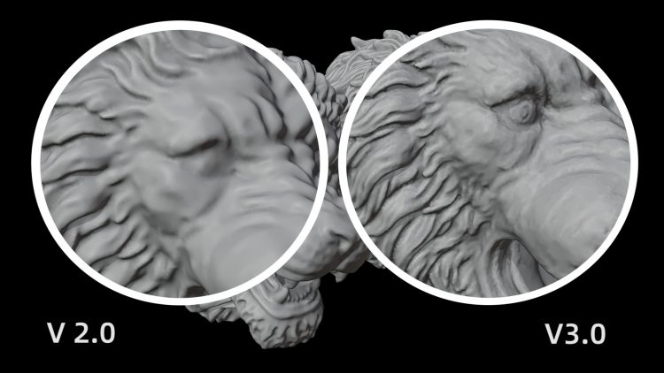 Version 3.0 and 2.0 of iReal 3D