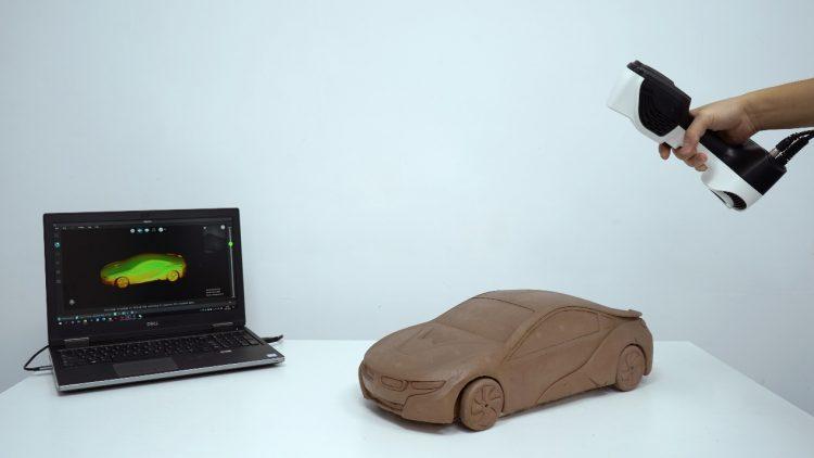 color map, car, 3D scanning