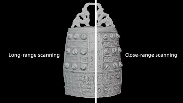 long-range scanning, close-range scanning