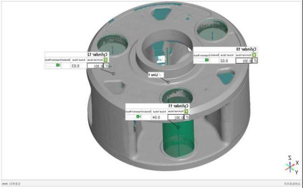 3D inspection, 3D scanner, measurement results